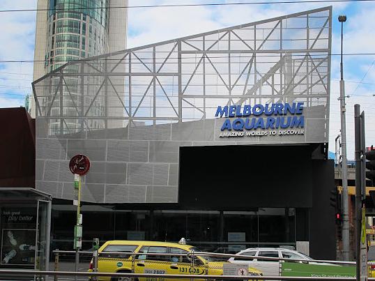 Entrance to the Melbourne Aquarium.