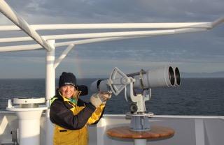 Dolphin sound scientist, Anne Simonis.