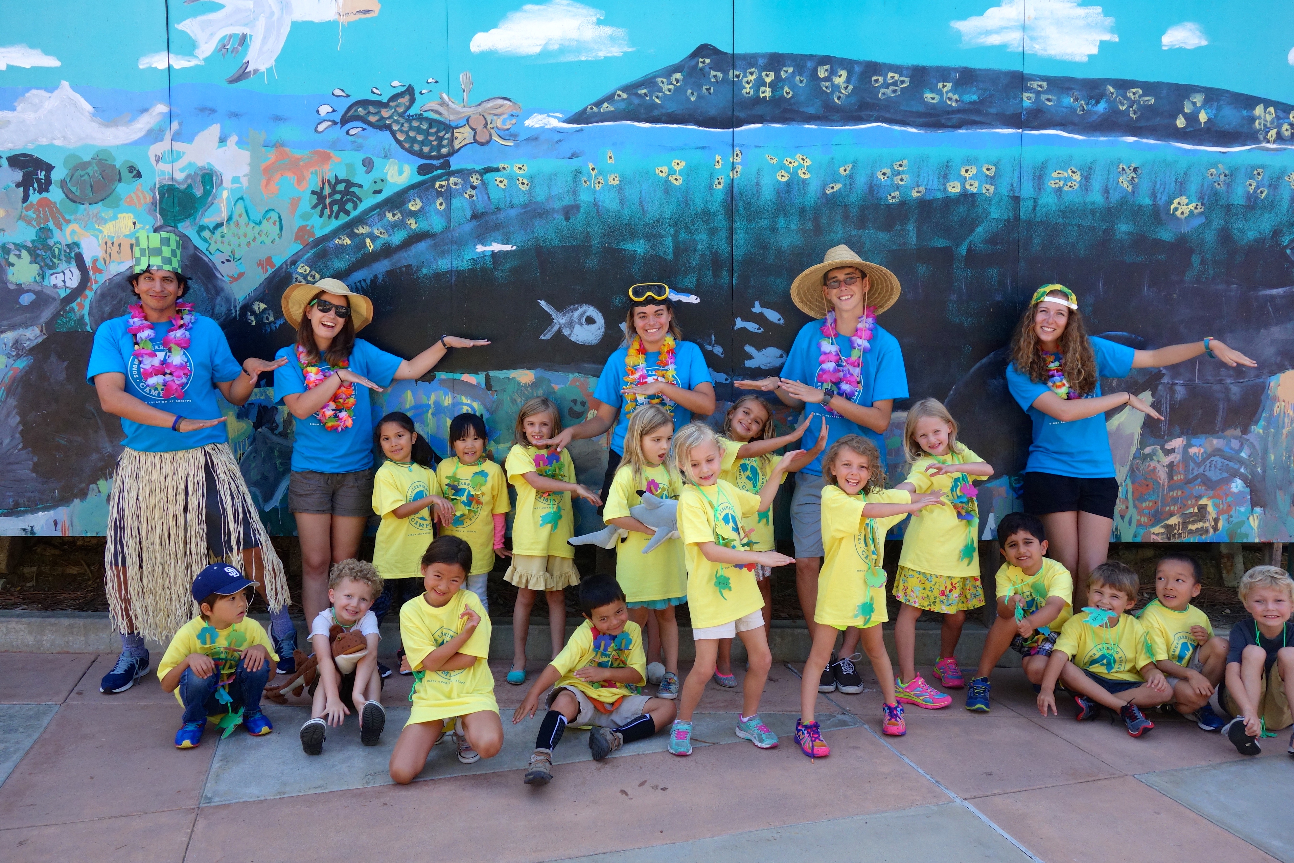Campers visited Hawaii during our Only One Ocean Camp.