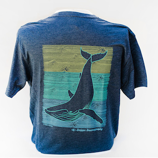 Scripps Oceanography Shadow Whale T-shirt